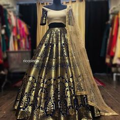 For details / order please dm or Whatsapp on . Kurti Designs Party Wear, Lehenga Designs, Indian Attire, Indian Outfits, Saris, Indian Wedding Wear, Indian Bridal, Indian Lehenga, Brocade Lehenga
