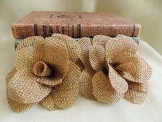 Burlap Flowers Table Decoration Wedding Decor Country Shabby Chic Rustic Decor Home Decoration Fall Wedding Decor Autumn Wedding Decor on Etsy, $5.00