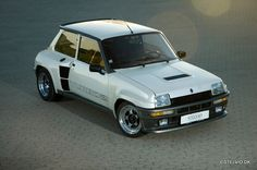 Renault 5 Maxi Turbo.  Guaranteed THIS little rocket has more than 3 lugnuts per wheel!!