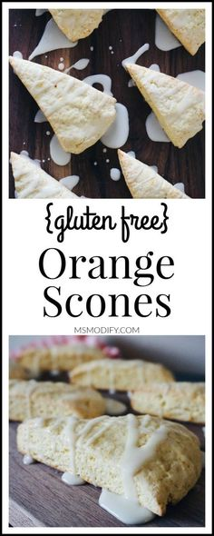 Simple to make and are ready in no time these Orange Scones are light flaky and gluten free! Simple to make and are ready in no time these Orange Scones are light flaky and gluten free! Gluten Free Diet Plan, Best Gluten Free Recipes, Gluten Free Sweets, Gluten Dairy Free, Easy Recipes, Best Gluten Free Cookies, Diet Recipes, Wheat Free Recipes, Cooking Recipes