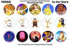 Beauty and the Beast free bottle cap image sheet. To save this image at the correct size, right click and select open in new tab. From there right click and save image. **These images are for perso…