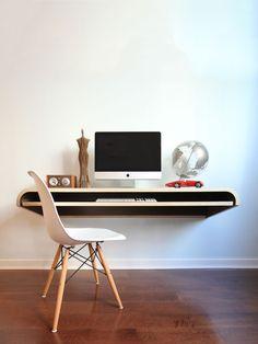 Float Desk Walnut Gilt Home