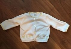 Carter's White Baby Girl Floral Sheep Button Down Cardigan Sweater 6 Months | eBay