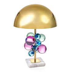 Shop Globo Multicolor Table Lamp from Jonathan Adler at Horchow, where you'll find new lower shipping on hundreds of home furnishings and gifts. Jonathan Adler, Desk Light, Light Table, Led Reading Light, Lucite Table, Table Lamps For Bedroom, Living Room Lighting, Table Lighting, Lighting Ideas
