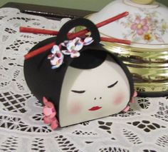 2015 created by Jeanette Savina Becerra Cobb  Little Geisha Girl using the Curvy Keepsake Box Die from Stampin'Up.
