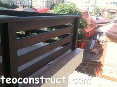 balustrade din lemn rustice pentru terasa 01