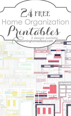 24 Free Home Organization Printables