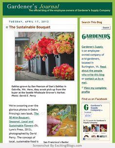 Gardening Blogs, Garden Supplies, Sustainability, Journal, Journal Entries, Journals