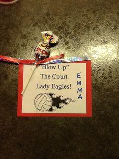 Volleyball locker tag