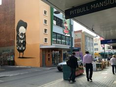 "Stormy Mills, ""Lost Giant"", in Criterion Street, Hobart, Australia, 2015"