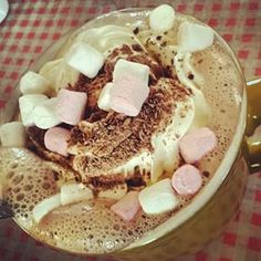 Luxury hot chocolate with cream at the Machrie Bay Tearoom, Isle of Arran. | 25 Things Everyone Must Eat In Scotland