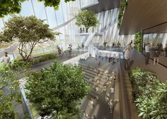 World Architecture Community News - Daniel Libeskind's new ''Tor Di Valle Roma'' crystallizes the interiors with varied forms Chinese Architecture, Architecture Office, Concept Architecture, Futuristic Architecture, Landscape Architecture, Landscape Design, Architecture Design, Open Space Architecture, Biophilic Architecture