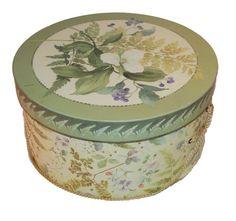 Vintage Decorative Hatbox by MadgesHatBox on Etsy