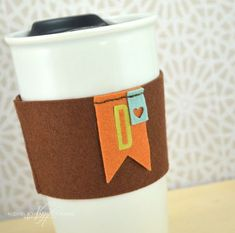 Monogrammed Coffee Cozy by Nichole Heady for Papertrey Ink (August 2013)