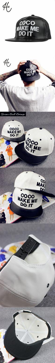 COOL!!!2015 New Brand Design Sample Letters Snapback caps for man Gorras Black White COCO Baseball Cap Women & Men Hip Hop Hats $6.79