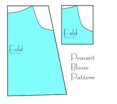 peasant blouse Something to know: this tutorial has been modified to improve the shape of the garment and the clarity of instructions.... (I used this a couple years ago. It worked so well I'll use it again to make a bigger blouse)