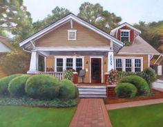 Custom House Portrait  Oil Painting  Unique by MissysPortraits, $250.00