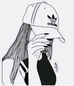Afbeeldingsresultaat voor adidas meisje tekenen