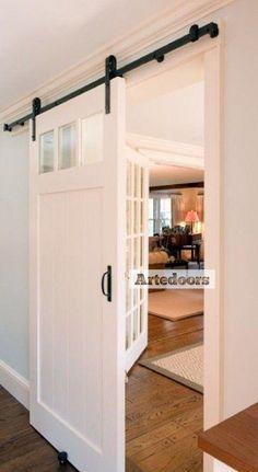 Puertas lm blancas ideas para el hogar pinterest for Herraje puerta corredera granero