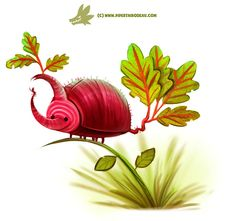 Daily Paint #1206. Beet'le, Piper Thibodeau on ArtStation at https://www.artstation.com/artwork/rW9re