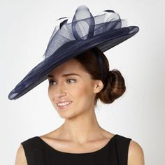 Principles by Ben de Lisi Designer navy bow saucer fascinator- at Debenhams.com
