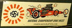 1964 Drag Race decal Vintage Signs, Vintage Ads, New Ford Mustang, Racing Stickers, Drag Racing, Auto Racing, Summit Racing, Kustom Kulture, Dioramas