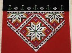 Bilderesultat for mønster til bringeduk hardangerbunad Nye, Cross Stitch Patterns, Bohemian Rug, Ornaments, Beads, Rugs, Crafts, Home Decor, Costumes