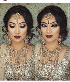 Pakistani Bridal Makeup Make Up Jewellery Ideas Asian Bridal Makeup, Indian Wedding Makeup, Wedding Hair And Makeup, Hair Makeup, Indian Makeup Looks, Hair Wedding, Eye Makeup, Pakistani Bridal Hair And Makeup, Asian Makeup