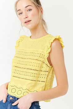 Product Name:Embroidered Eyelet Top, Category:top_blouses, Eyelet Top, Crochet Blouse, Baby Girl Dresses, Lace Tops, Couture Fashion, Blouses For Women, Latest Trends, Fashion Dresses, Clothes