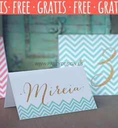 MESEROS DE BODA GRATIS CHEVRON - Party DesignParty Design