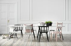 Need more seats at the table? Mix and match chairs for a fun and eclectic look.