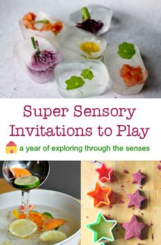 A whole year of invitations to play :: sensory play activities :: sensory provocations :: learning about the senses