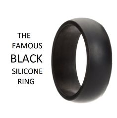 7pcs 8mm Silicone Wedding Ring for Men Silicone Rubber Wedding Bands Step Edge