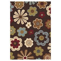 Mad Meadow Chocolate Multicolor Rug 7 X 10 ft