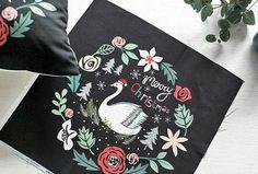 Classy linen Linen fabric feel Swan pattern 50cmx50cm Scandinavian Fabric, Linen Fabric, Swan, Classy, Feelings, Pattern, Chic, Swans, Elegant