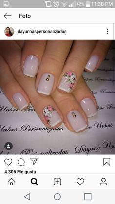 Fall Nail Art Designs, Gel Nail Designs, Flower Nail Art, Acrylic Nail Art, Creative Nails, Nail Tutorials, Wedding Nails, Toe Nails, Pedicure