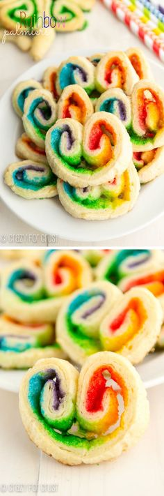 Rainbow Bread:  A super easy treat for St. Patrick's Day using crescent rolls and colored sugars.   | crazyforcrust.com |