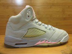 Nike Air Jordan V 5 s sz 6y VI Retro Silver Shy Pink Stealth Cool Grey 2006 #Jordan #Athletic #tcpkickz Jordan V, Youth Shoes, Air Jordans, Nike Air, Sneakers Nike, Athletic, Retro, Best Deals, Grey