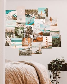 Collage Mural, Wall Collage Decor, Bedroom Wall Collage, Photo Wall Collage, Cute Bedroom Decor, Room Ideas Bedroom, Pictures For Bedroom Walls, Surfer Room, Fotografia Vsco