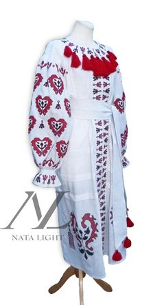 Ukrainian Traditional, Vyshyvanka, Embroidered Women's Maxi Dress, Exclusive Summer dress, Sizes - XS-4XL