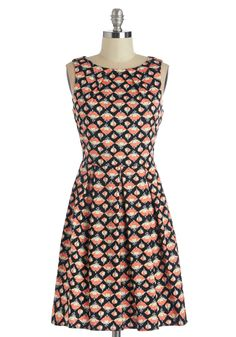 Collecting Carnations Dress. The sight of a fresh bouquet on your table is almost as delightful as the feeling you get when you zip into this black printed dress! #multi #modcloth