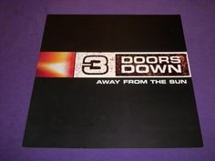 """3 Doors Down Away from the Sun Rare 2002 Promo Poster 12"""" x 12"""" Republic Records"""