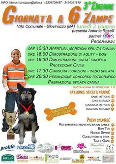 Giornata a #6zampe organizzata dalla #LegadelCane di #Giovinazzo il 2/6.