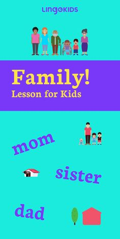 There's nothing more important than family. And now, with our interactive online lesson plan, your kids can learn family member names in English through fun games and activities!   #familyideas #ideasforkids #onlinelessonsforkids #funathomewithkids #athomewithkids #Englishlearning #Englishforkids #familyvocabulary #Englishvocabulary #Englishwords