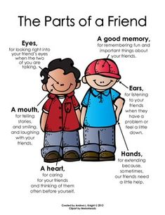 "NEW Poster:  ""The Parts of a Friend""  {Melonheadz Clipart Version}  Both boys and girls are available in this download.  $"