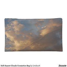 Soft Sunset Clouds Cosmetics Bag Makeup Bag