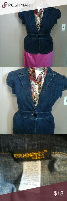 Nice jean blazer sz 1X Button front jacket with peblem bottom Roommates  Jackets & Coats Blazers