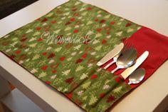 Mamahoch2: Weihnachtsspecial #3 - Platzdeckchen mit Besteckfächer