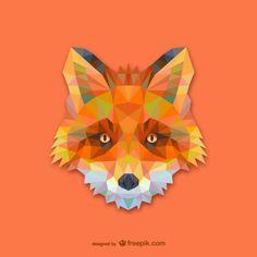 Projeto triângulo raposa vermelha Vetor grátis