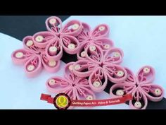 New : Art & Craft How to make Beautiful Quilling Pink.white Flower design -Paper Art Quilling, Show Your Crafts and DIY Projects. Quilling Comb, Paper Quilling Flowers, Quilling Jewelry, Quilling Paper Craft, Paper Crafts, Quilling Videos, Quilling Techniques, Art And Craft, Craft Day